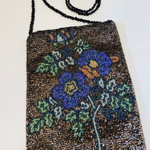 Handbags - B1G1 Sead Beaded Floral Crossbody Purse